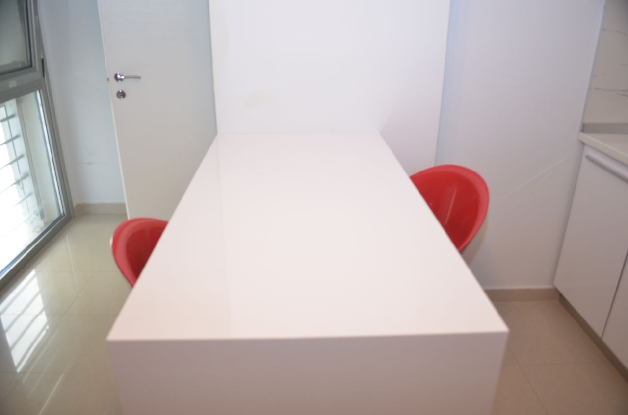 modern furniture three bedrooms apartment for rent in bllok tirana albania