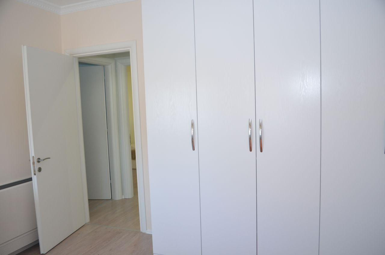 modern furniture three bedrooms apartment for rent in bllok tirana albania