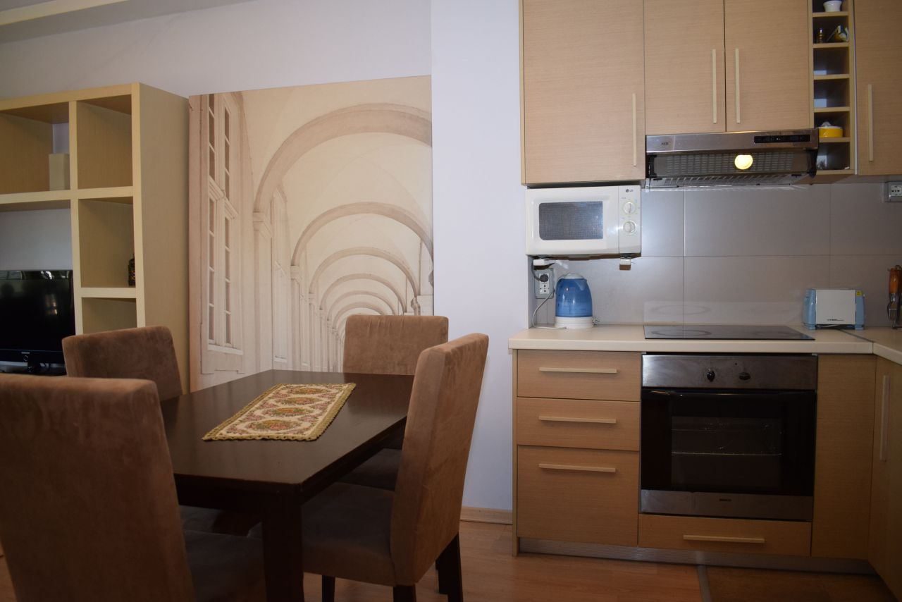 One bedroom apartment in Tirane for Rent. Fully furnished one bedroom apartment in Lidhja e Prizrenit street.Just a few meters away from the centre of Tirana.