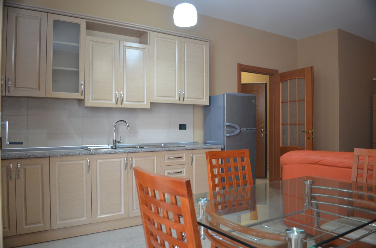 Apartment with two bedrooms for rent in Tirana in contemporary conditions