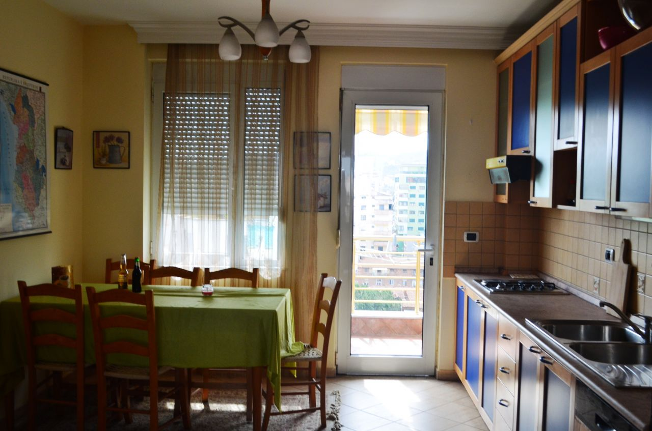 apartment for rent in the center of tirana, with a wide area and furnished