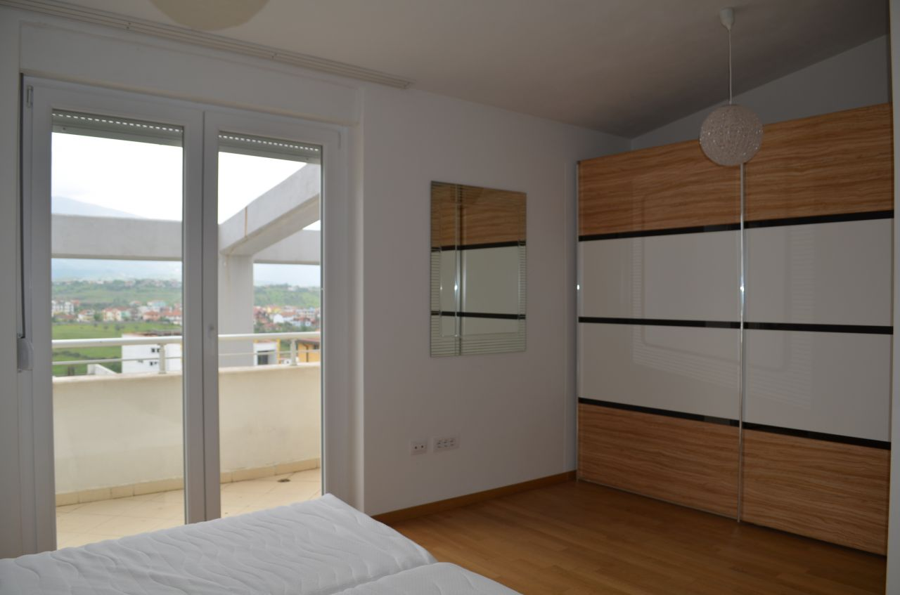Tirana Rentals, penthouse for rent in Tirana, the capital of Albania, in great conditions offered by Albania Property Group.