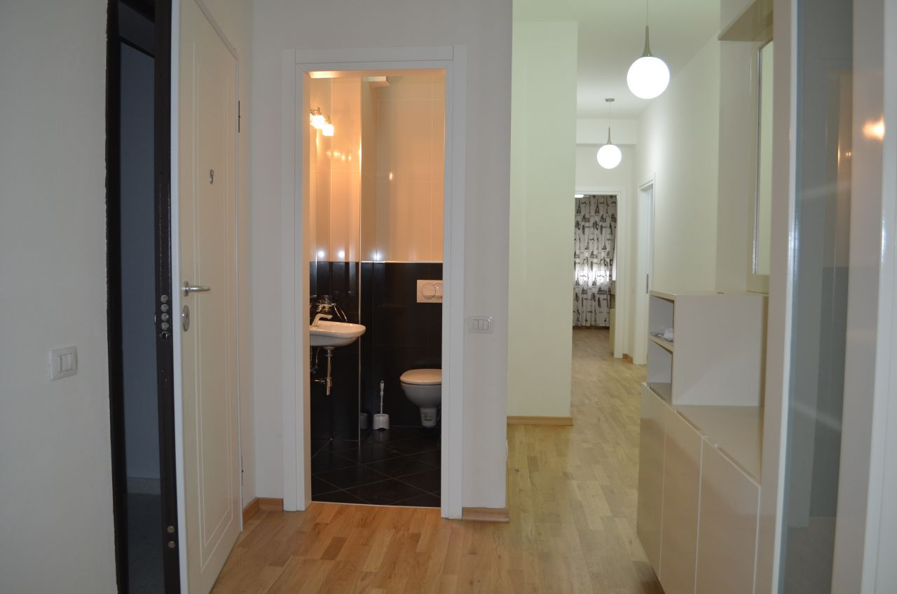 Apartment for Rent in Tirana. Gated Residence with Swimming Pool