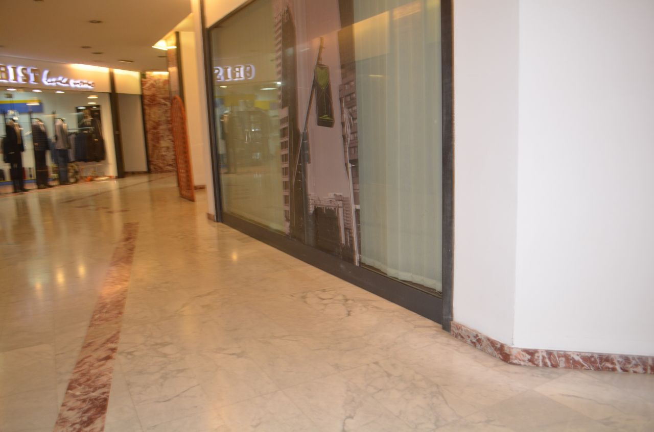 Shop for Rent in the center of Tirana, Albania, offered by Albania Property Group. It is located in a shopping center.