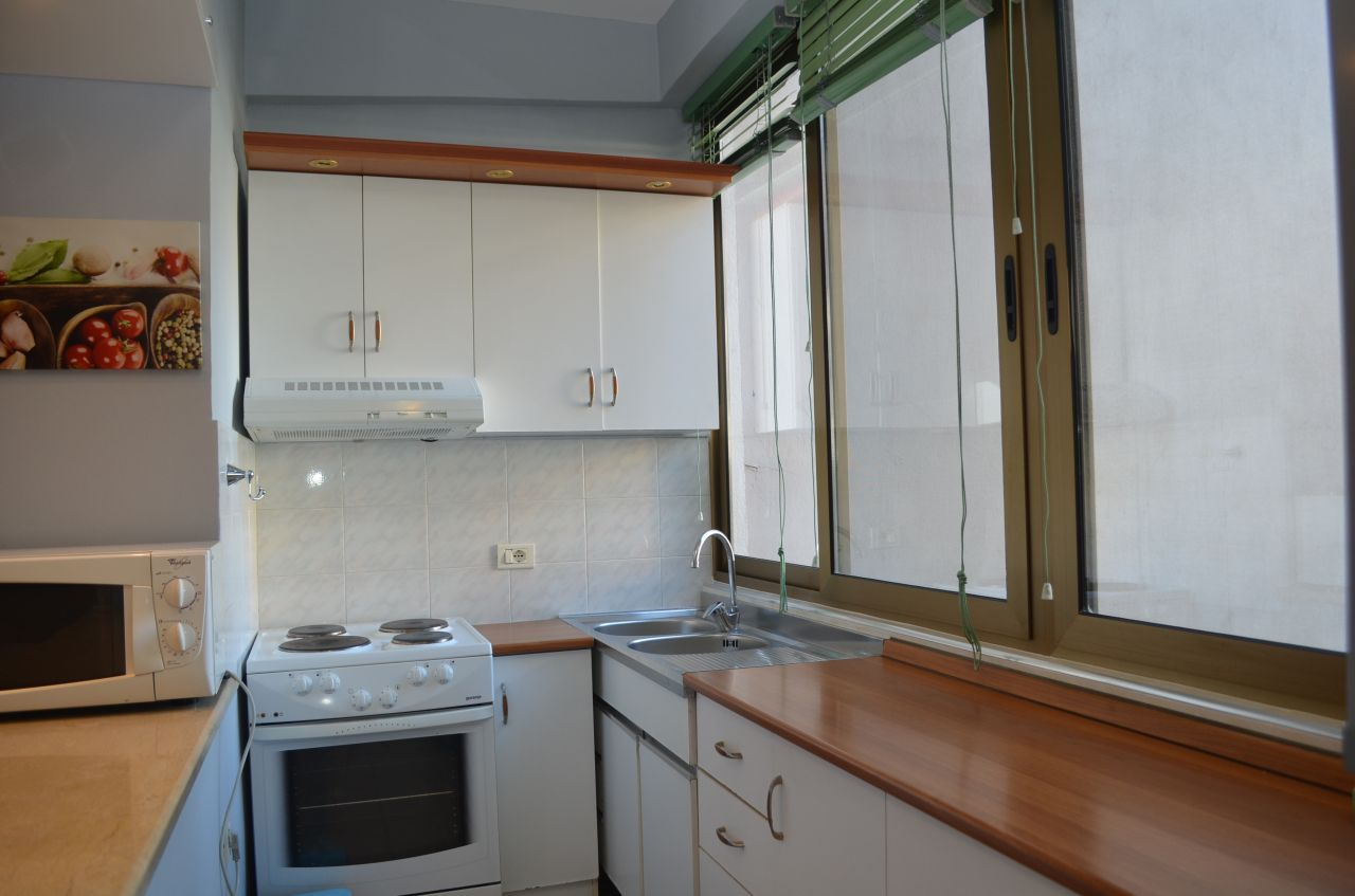One Bedroom Apartment with  Garden for Rent in Tirana