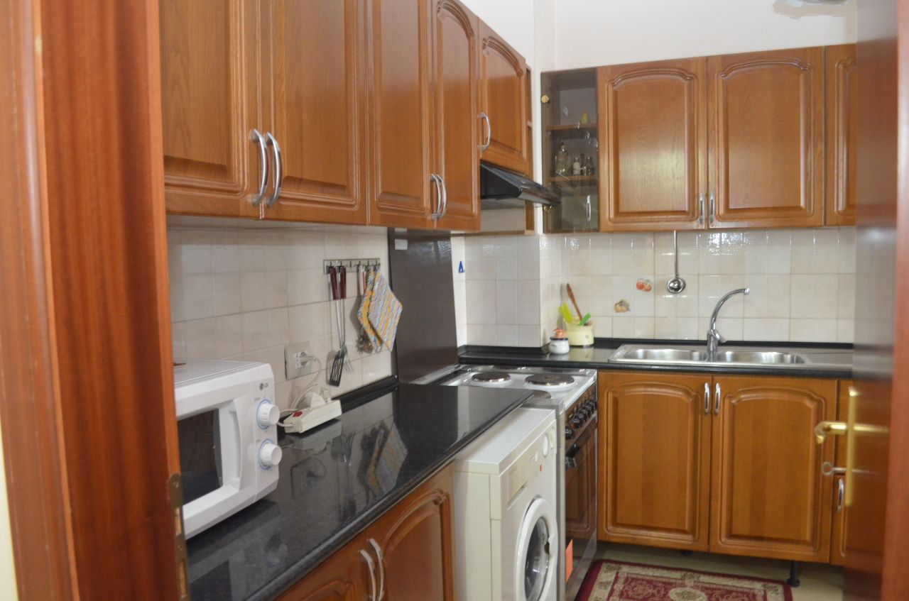 Apartment for rent in tirana fully furnished with two bedrooms located in blloku area