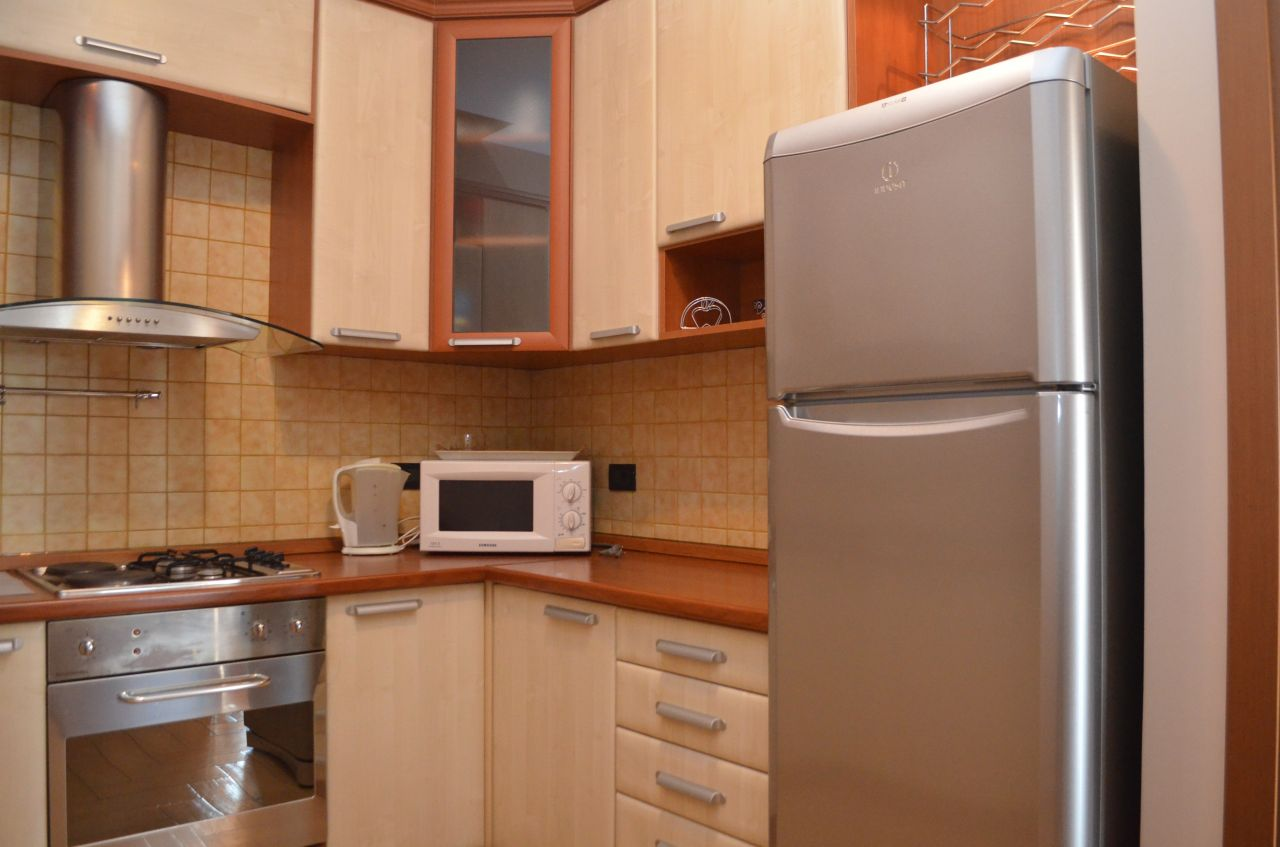 Two  bedrooms apartment for rent in Bllok area. Fully equipped apartment for rent in Tirana.