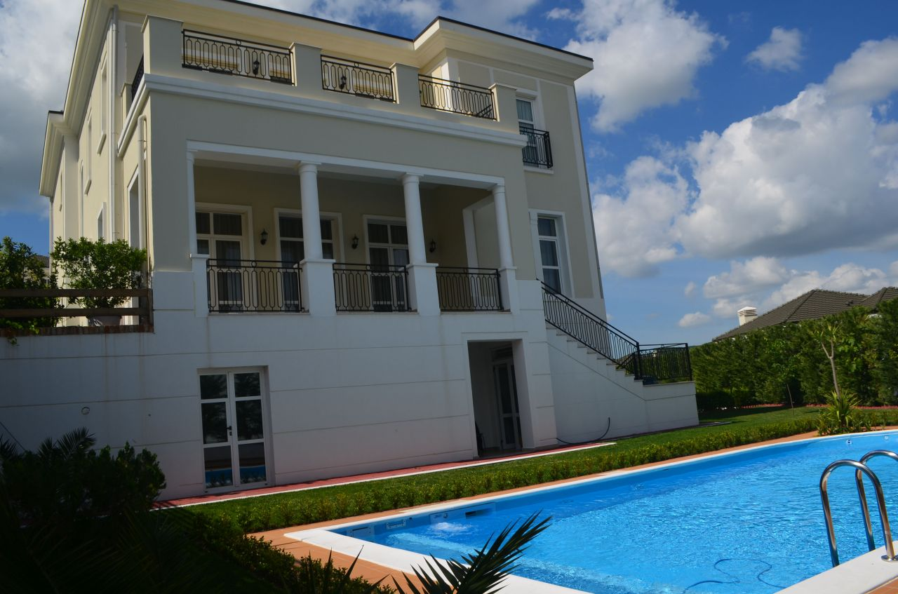 Big villa for Rent in Tirana. Villa with pool  for rent at Rolling Hills Residence.