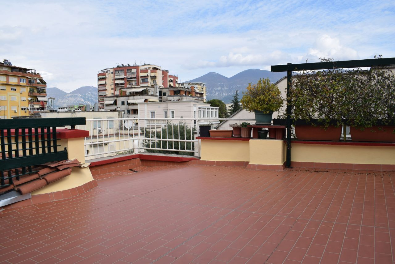 Duplex with three bedrooms for rent at Blloku area , in Tirana