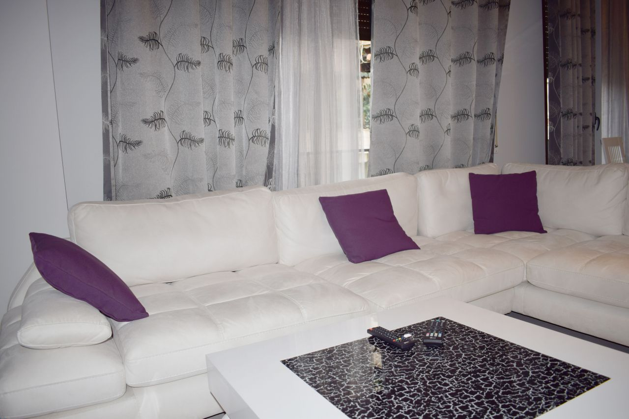 Two  bedrooms and fully furnished apartment  for rent in Tirana