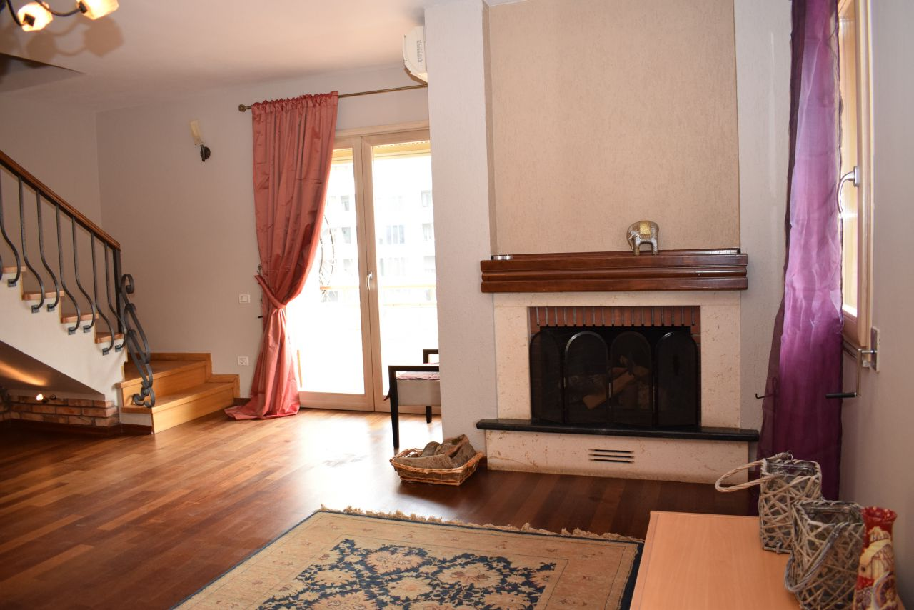 Duplex Apartment in Tirana for Rent. Three Bedrooms Apartment Near the Lake