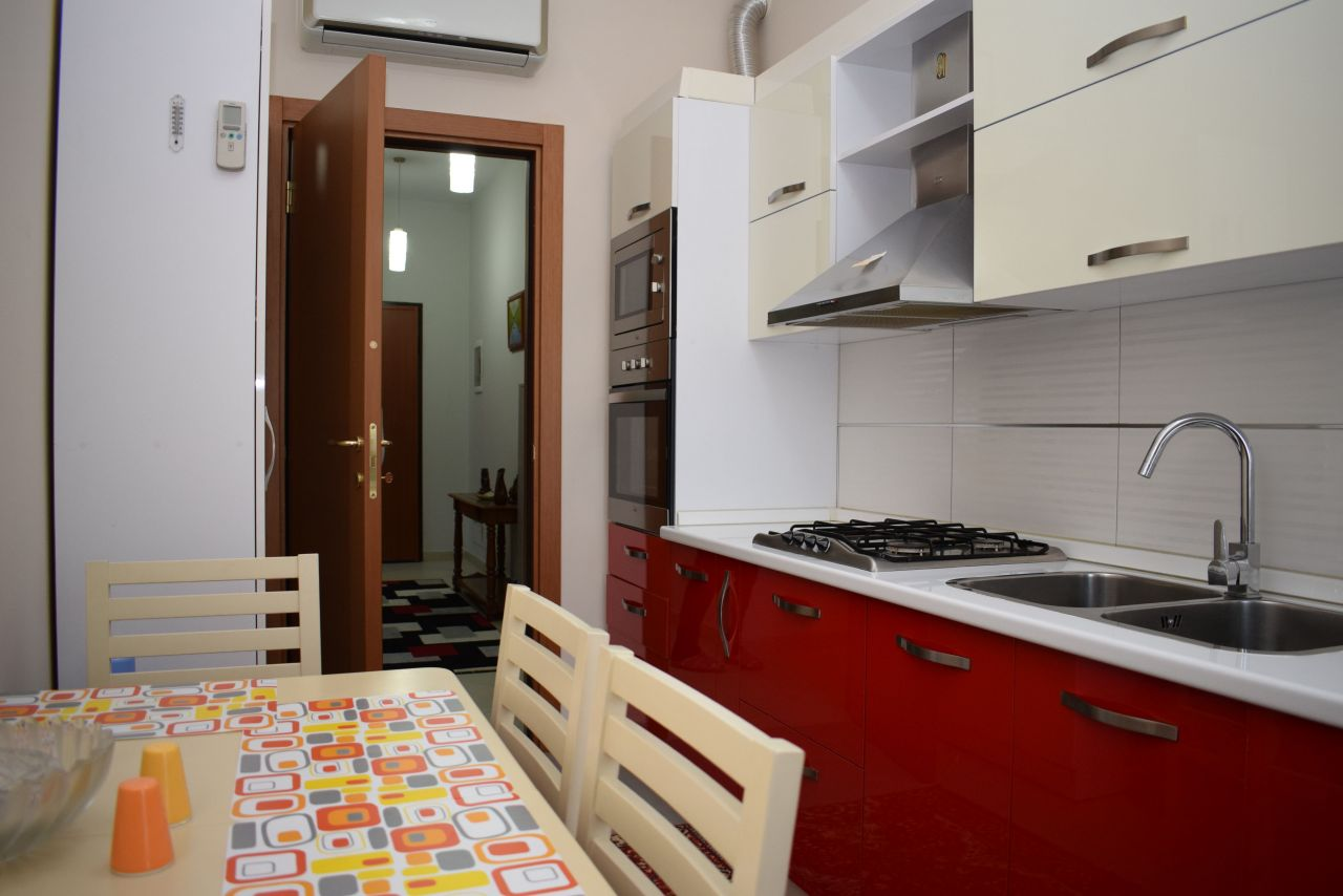 modern apartment in tirana for rent near mother teresa square and park area
