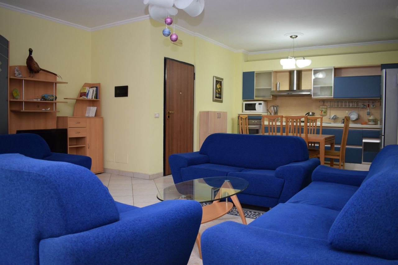 Two bedrooms apartment for rent near Blloku area, in Tirana