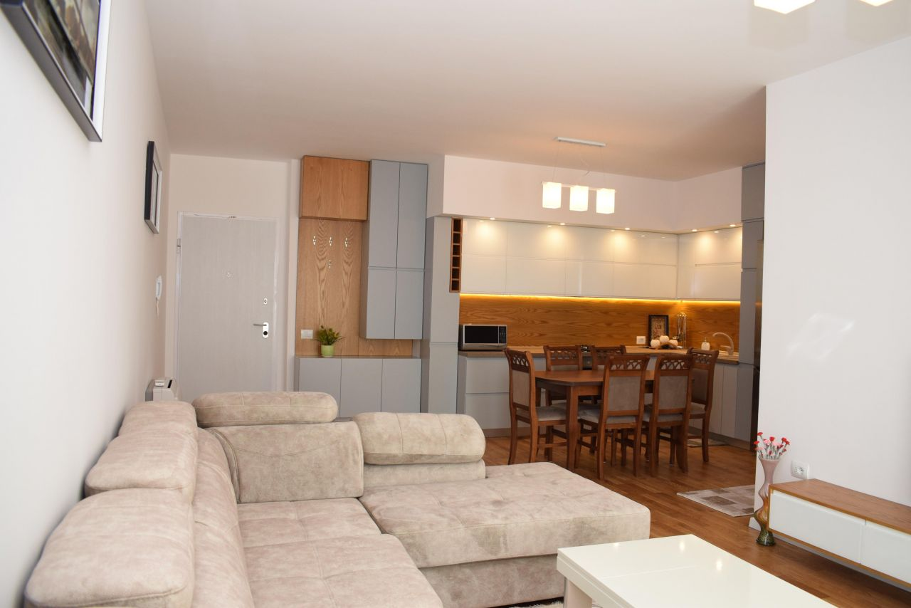 brand new apartment for rent in tirane with two bedrooms and two bathrooms