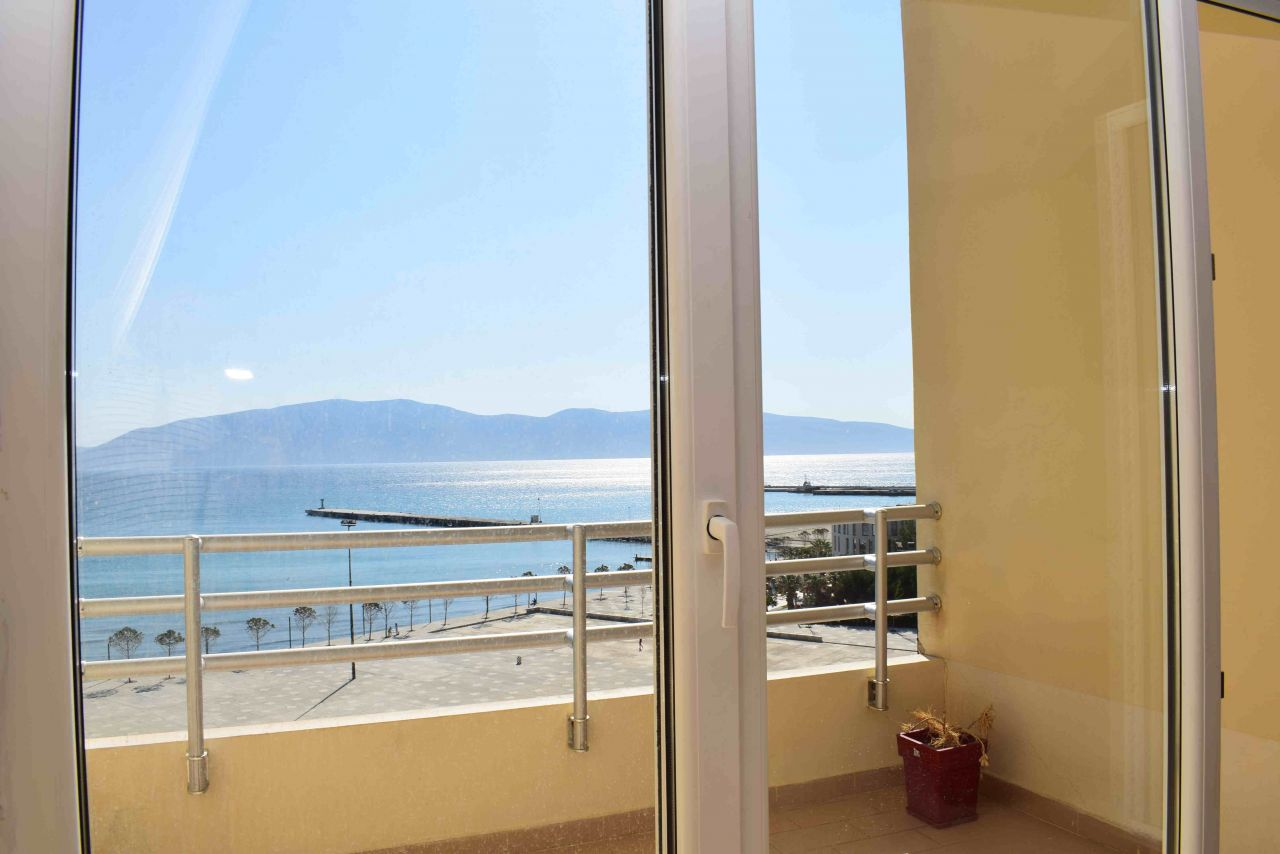 Sea View 2 Bedroom Apartment for Rent with 2 bathrooms in Vlora